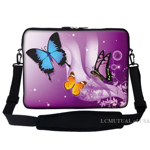 17 3 laptop computer sleeve case bag w handle shoulder strap many design ebay. Black Bedroom Furniture Sets. Home Design Ideas